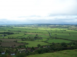 View from the Glastonbury Tor